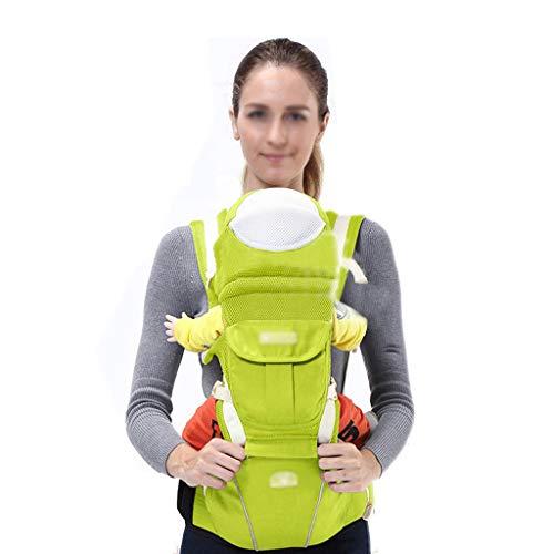 FH Babytragetuch ist einfach und leicht, Multifunktionsgurt Baby, atmungsaktiver Hocker vorne mit Hocker, ergonomische 360-Grad-Babytrage, Hüftsitz, geeignet für 0-36 Monate Baby, verstellbar