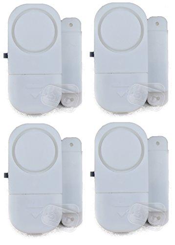 4x Tür Fenster Eintrag Alarm SET Sicherheit sehr laut batteriebetrieben