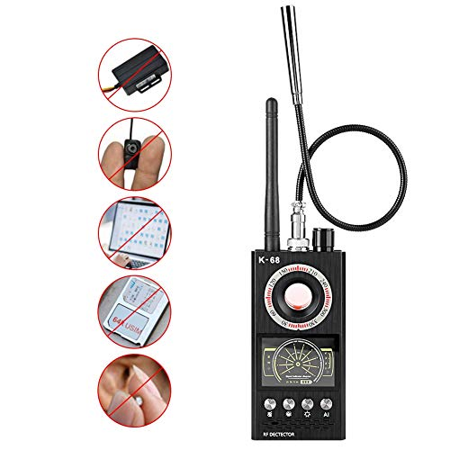 Detector de cámara antiespía, Detector de señal inalámbrico Buscador de Errores Detector antimonitoreo y Anti-posicionamiento, Detector de señal RF Detector de Audio gsm Detector de escaneo GPS