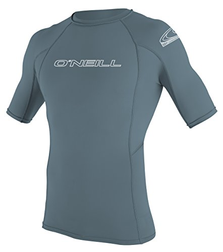 O 'Neill Neoprenanzug Herren UV-Sonnenschutz Basic Skins Short Sleeve Rash Guard Crew Shirt dusty blue