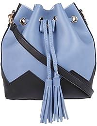 Fur Jaden Blue Ladies Bucket Tote Handbag For Woman