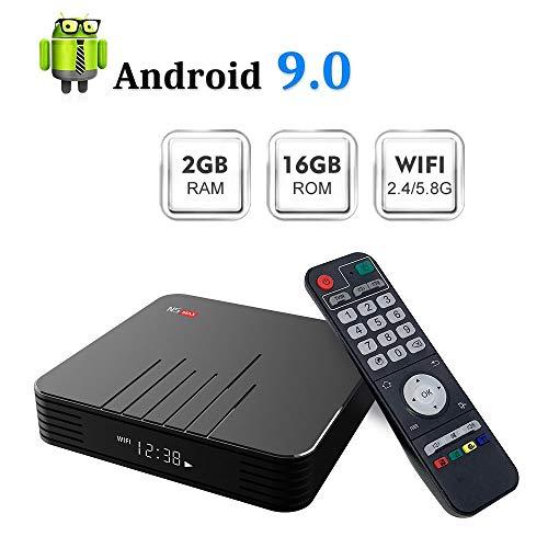 Android 9.0 TV-Box[4 GB RAM + 64 GB ROM], N5 Max S905X3 Quad-Core-Cortex-A53 Mali-T720MP2 Der Media Player Unterstützt 4K H.265 100M LAN Internet 2,4 Ghz Wifi 3D-Set-Top-Box Und USB 3.0,2gb+16gb