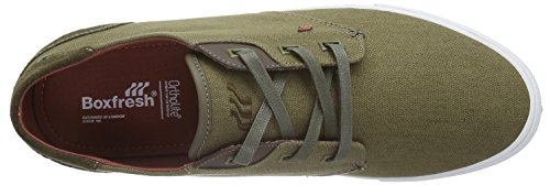 Boxfresh - Stern Sh Wxd Cnvs/Sde, Scarpe da ginnastica Uomo Marrone (Braun (Khaki/Arabian SPICE))