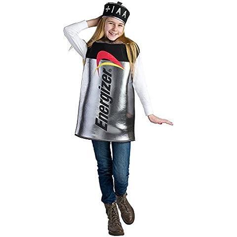 Dress Up America 800-L - Costume Pila Energizer per Bambini 12-14 Anni, Metallizzato