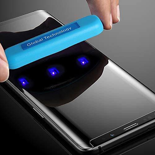 cofi1453 Panzer Schutzglas kompatibel mit Samsung Galaxy Note 8 (N950F) mit Kleber & UV Licht 3D Curved Panzerglasfolie Display Schutzfolie Volle Abdeckung -