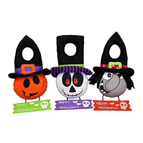 eative Halloween Hängen Hexe Kürbis Schädel Happy Halloween Tag Zeichen Tür Hängen Fenster Hängen Anhänger für Halloween Party Dekoration ()