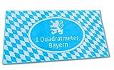 Funice 3795 Handtuch 1 qm Bayern mit Löwe, Strandtuch bayrisch blau und weiß - Badelaken 150 x 70 cm