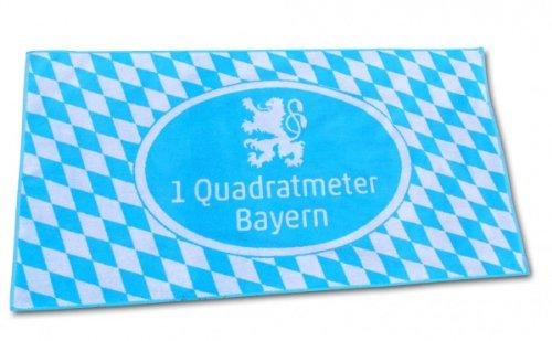 Unbekannt Funice 3795 Handtuch 1 qm Bayern mit Löwe, Strandtuch bayrisch blau und weiß - Badelaken 150 x 70 cm (Weiße Badelaken)