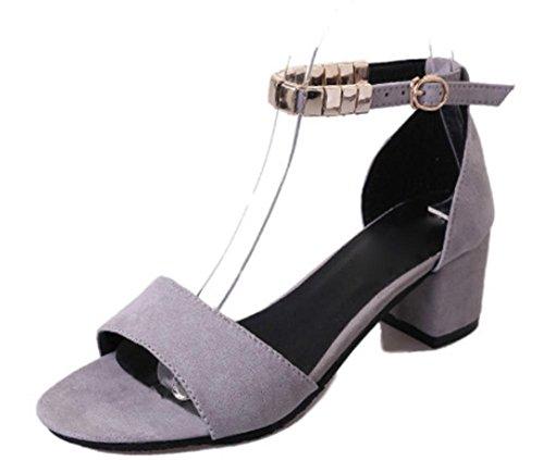 Sommer Sandalen mit dem Wort, wo die raue mit Sandalen Grey
