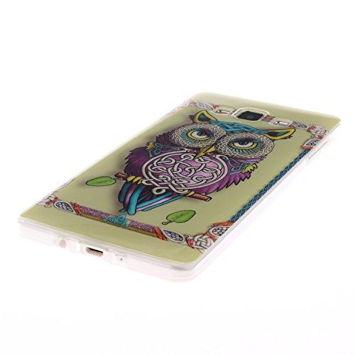 iPhone 5C Hülle, iPhone 5C Case [Scratch-Resistant], ISAKEN iPhone 5C Ultra Slim Perfect Fit Designed Muster Malerei TPU Transparent Protective back Hülle Hüllen Beschützer Haut Case Tasche Schutz Etu Eule