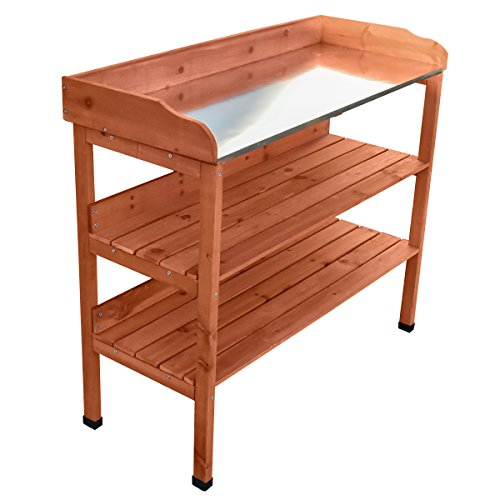 KCT 3 Tier Wooden Outdoor Garden Potting Bench