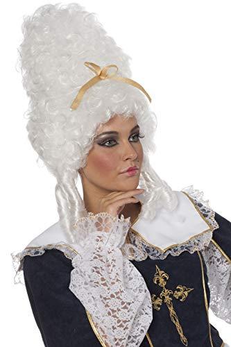 e Antoinette Weiß toupiert Rokoko-Kostüm Damen Damenperücke ()