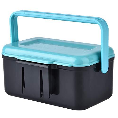 Contenitore per attrezzi da pesca Contenitore portatile per la conservazione di attrezzi da pesca Impermeabile Fishing Lure Baits Storage Box con Interlayer e pinzette per lo stoccaggio di esche vive