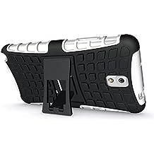 FALIANG Samsung Galaxy Note 3 Funda, 2in1 Armadura Combinación Neumáticos Patrón A Prueba de Choques Heavy Duty Escudo Cáscara Dura para Samsung Galaxy Note 3 (Blanco)