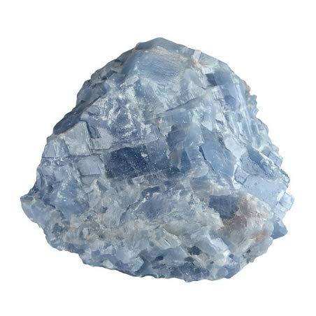 Sammlung 50 (Unbearbeiteter Stein lithothérapie und Sammlung Calcite von blau, 50 mm Sri Lankas unbearbeitet)