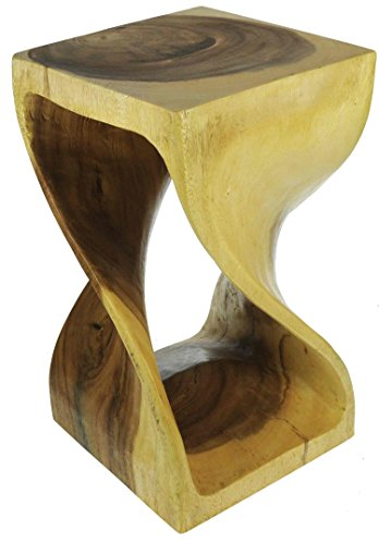 Twist coffee table : Novelty wooden stool/ side table : Indulgant Christmas present & unique talking point for the home.