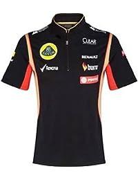 Lotus F1 equipo patrocinador 2014/5 señoras Tech Polo para hombre con cremallera superior,