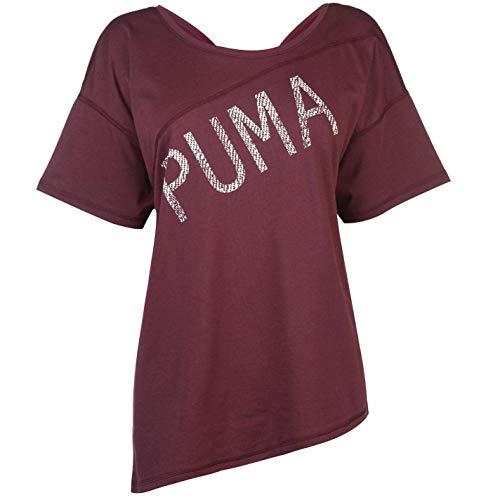Puma Vacanza T-Shirt Donna Fico Top Maglietta Athleisure Activewear - Viola, UK 8 (XS)
