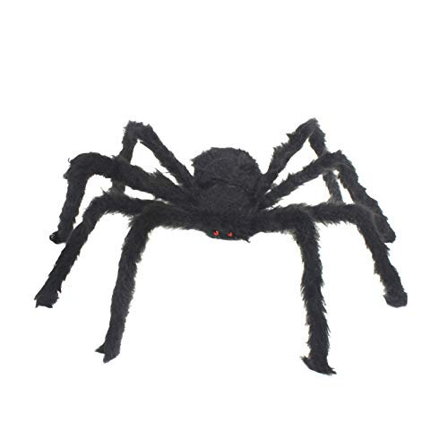 Ratte Kostüm Beängstigend - mi ji Halloween Scary Props Simulation Hairy Spider Creative Funny Toys Party Decor Plush Spider Outdoor Yard Decor for Party Halloween Black 30cm