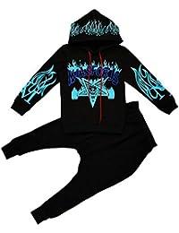 Vividda Niño con Capucha Camisetas de manga larga y Pantalones Harem Hiphop Ropa Trajes Conjunto