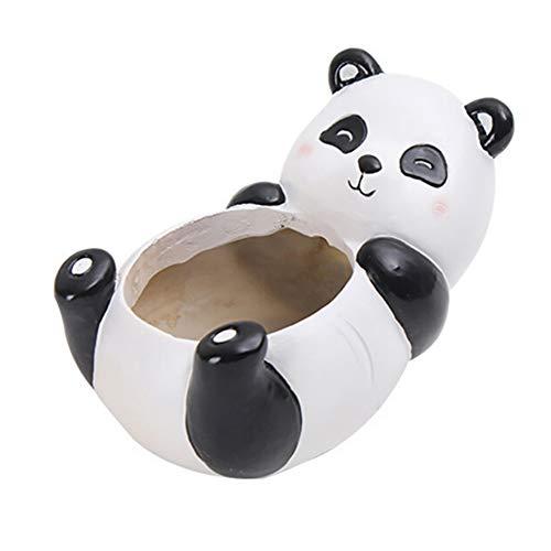 Yamer Panda Gartenpflanzen Vase Sukkulenten Töpfe Niedlichen Tier Geformte Cartoon Home Decoration Harz Mini Blumentöpfe Gartenpflanzen Vase Schreibtisch Dekoration -