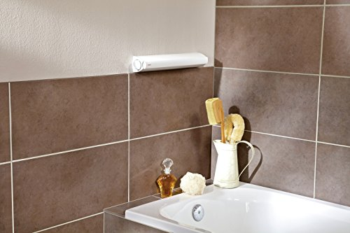 Leifheit Rollfix 210 Longline - Tendedero de pared de plástico, 4.2 m, color blanco