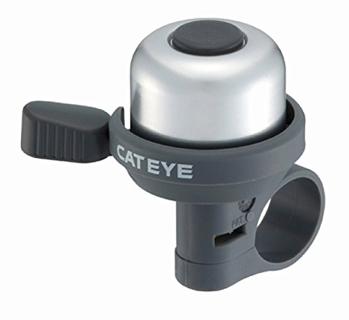 Cateye PB-1000 Wind-Bell Fahrradklingel, Silber/Schwarz, One Size