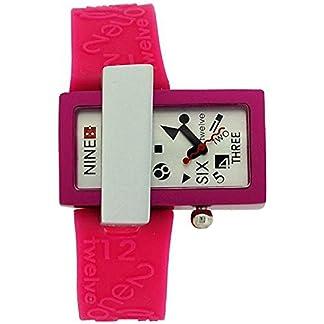 El tiempo de Quantum Kool análogo y el puerto de color rosa y correa de silicona reloj de manera de las señoras KT70