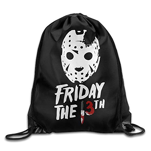 GONIESA Jason Voorhees Friday The13th Travel Sport Bag Drawstring Backpack/Rucksack