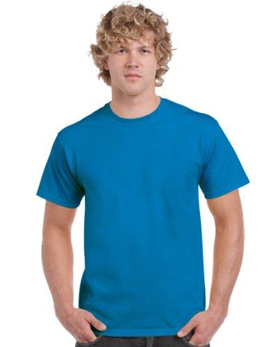 Gildan - Heavy Cotton - Maglietta Manica Corta - Uomo Small,Sapphire