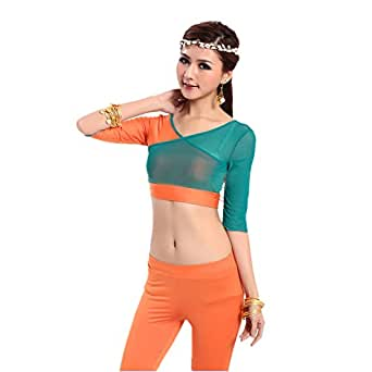 H:oter High-Grade Gauze Belly Dancing Top, Soft V-Neck Dancing Top, Price/Piece
