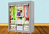 Cromtail 6+2 Layer Fancy and Portable Foldable Collapsible Closet/Cabinet (Need to Be Assembled) (88130) (Grey)