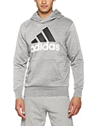 adidas Herren Essentials Linear Pullover Hood French Terry Kapuzenpullover, Energy/White