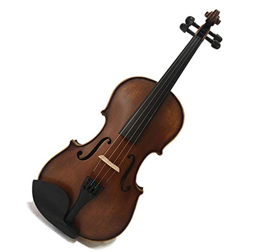 JACSON Violine handgefertigt Massivholz Violine Kinder Erwachsene Praxis Violine Matt Antik Ebenholz Violine,1/8 -
