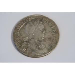 DEMI ECU LOUIS XIV 1649 C ST LO MECHE LONGUE