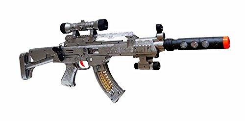Militär Army Gun Pistole Gewehr Spielzeuggewehr Kostüm LED Licht Sound LX.5200 (Army Kinder Kostüm)
