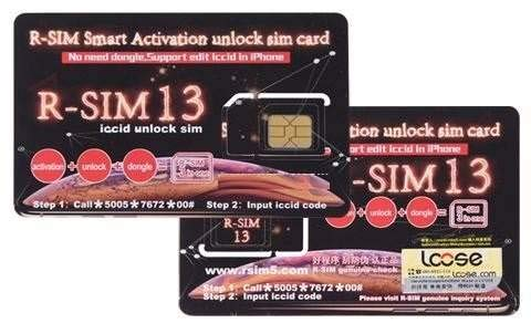 RSIM 13 Smart Activation Unlock SIM Card unlockcard for all iPhone Fino a  iPhone X E 8 Plus