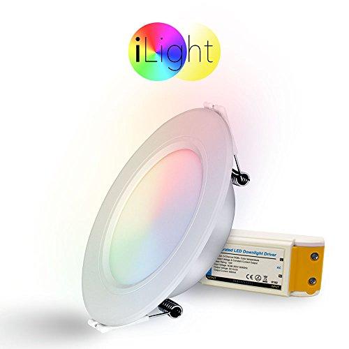 iLight LED-Einbaupanel iLight Ø12cm 600lm RGB + CCT LED-Lampe Farbwechsel & Dual White Funksteuerung LED-Panel Einbau SmartHome Dual-white Led