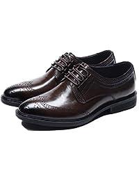 00694c07edd5e Scarpe Eleganti da Uomo Stringate in Pelle Stringate Oxford Business Office  a Punta Scarpe Vintage Classic
