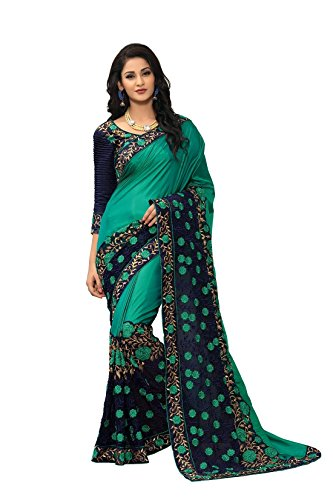 Online Fayda Women\'s Georgette Saree With Blouse Piece (Of295 ,Multicolor Free Size)
