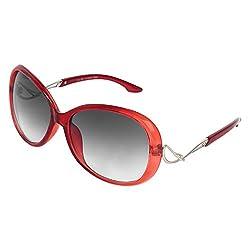 Zyaden Red Oversized Women Sunglasses 328