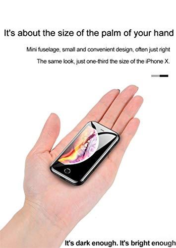 """JJABROS DERNIÈRE Smartphone 4G Super Mini 2019, Super Mini, 6,0 Android, Double SIM, RAM 2 Go, ROM 16 Go, 5MP, 2,45"""", TÉLÉPHONE CELLULAIRE Mobile Ultra Slim (Noir)"""