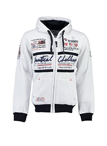 Geographical Norway model_name , cappuccio Uomo, Bianco (White), Small