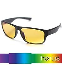 ⭐ [Horus®] - Lunettes anti lumière bleue GAMING |  Filtre le plus puissant du marché > 95%  | Anti fatigue Gamer (TV, ordinateur, écrans...) / Sommeil amélioré
