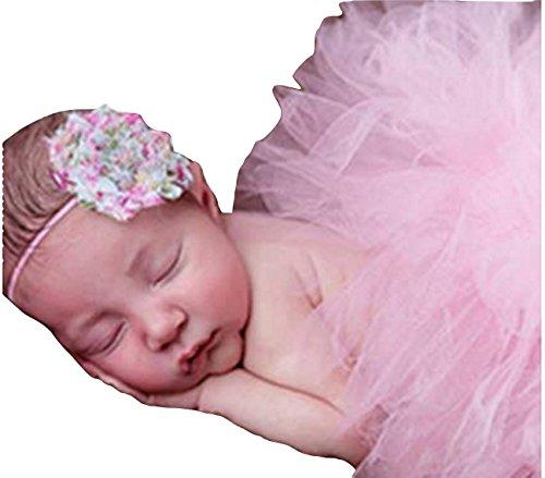 Rock Tüll Baby mit Ende zu Haar in Blüte Farbiger Full passend für Fotos News only rosa ()