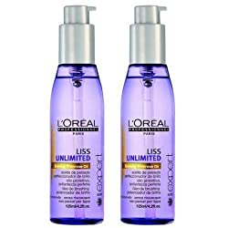 LOreal Professionnel Serie Expert Liss Unlimited Evening Primrose Oil/Serum - 125ml * 2 - PACK OF 2