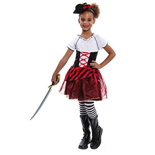 Morph OMPAL4672L Kostüm Girls Pirat ()