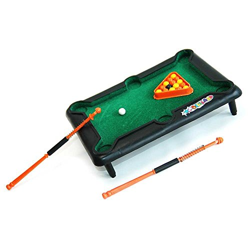HAB & GUT (FB004) Mini Billardspiel DESKTOP, 21x15cm Snooker Poolbillard Carambolage
