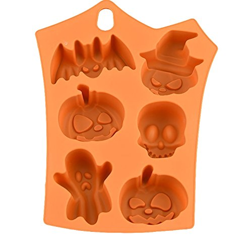 ce Deals. Funny Fledermaus Kürbis Silikon Kuchen Form Halloween Party Fondant Süßigkeiten Decor Form, Silikon, Orange, 1 (Halloween Clearance)
