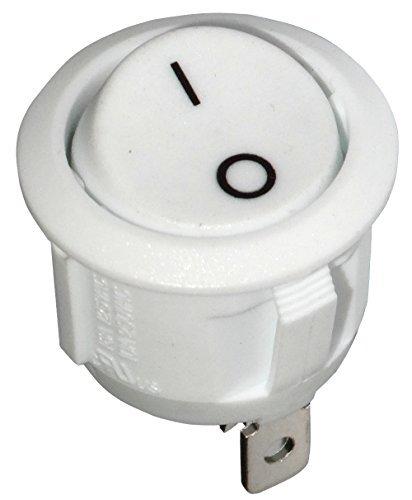 AERZETIX: Interruptor pulsador conmutador basculantes de boton SPST OFF-(ON) 6A/250V 20A/12V, 1...